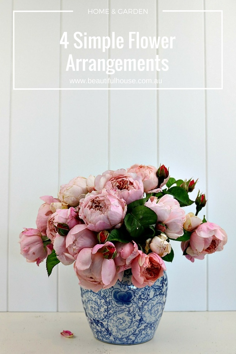 four simple flower arrangements for your home beautiful