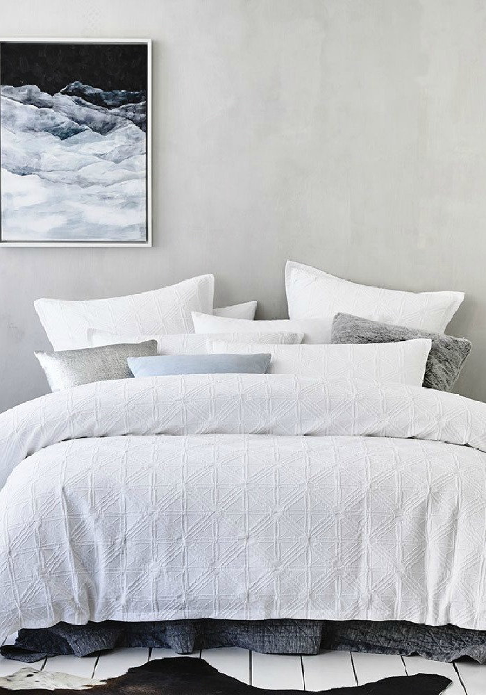 Adairs White quilt cover
