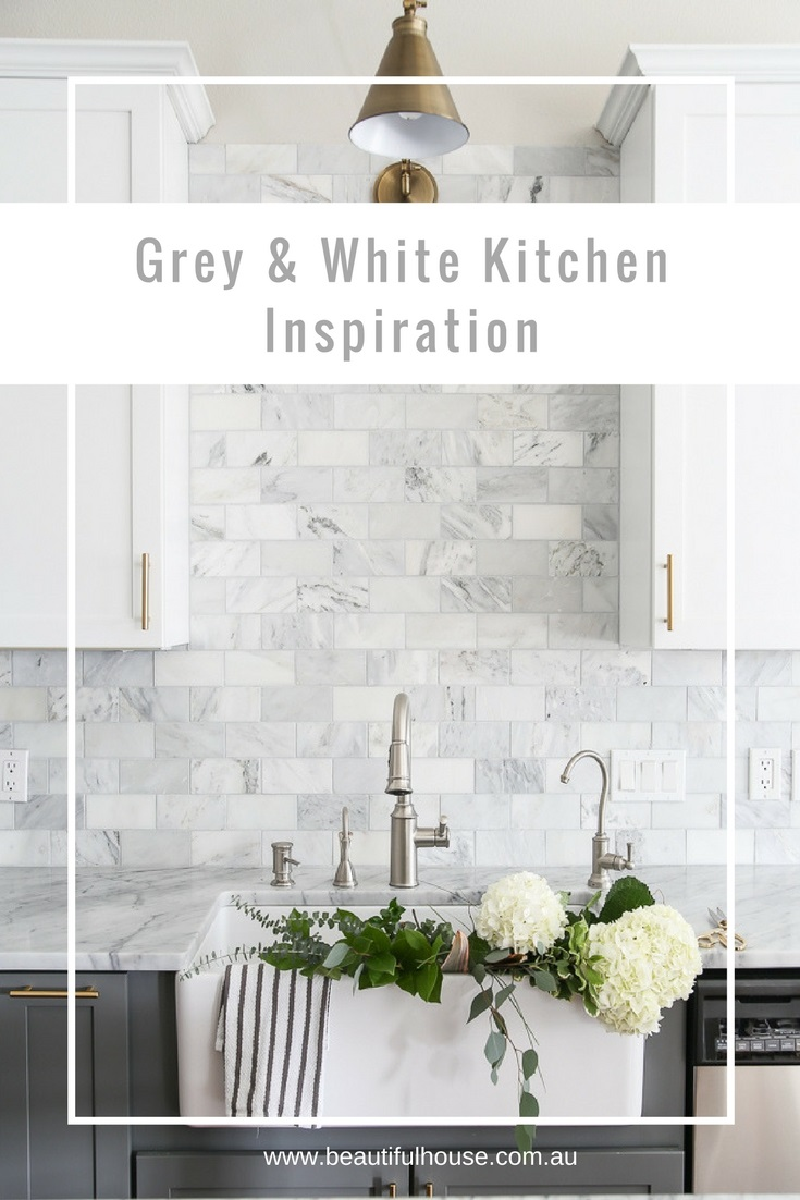 Grey Amp White Kitchen Inspiration Beautiful House