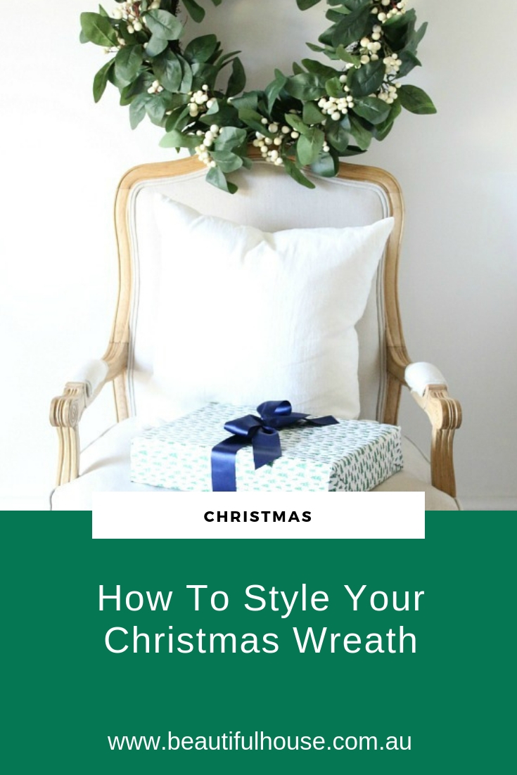 How to style your christmas wreath