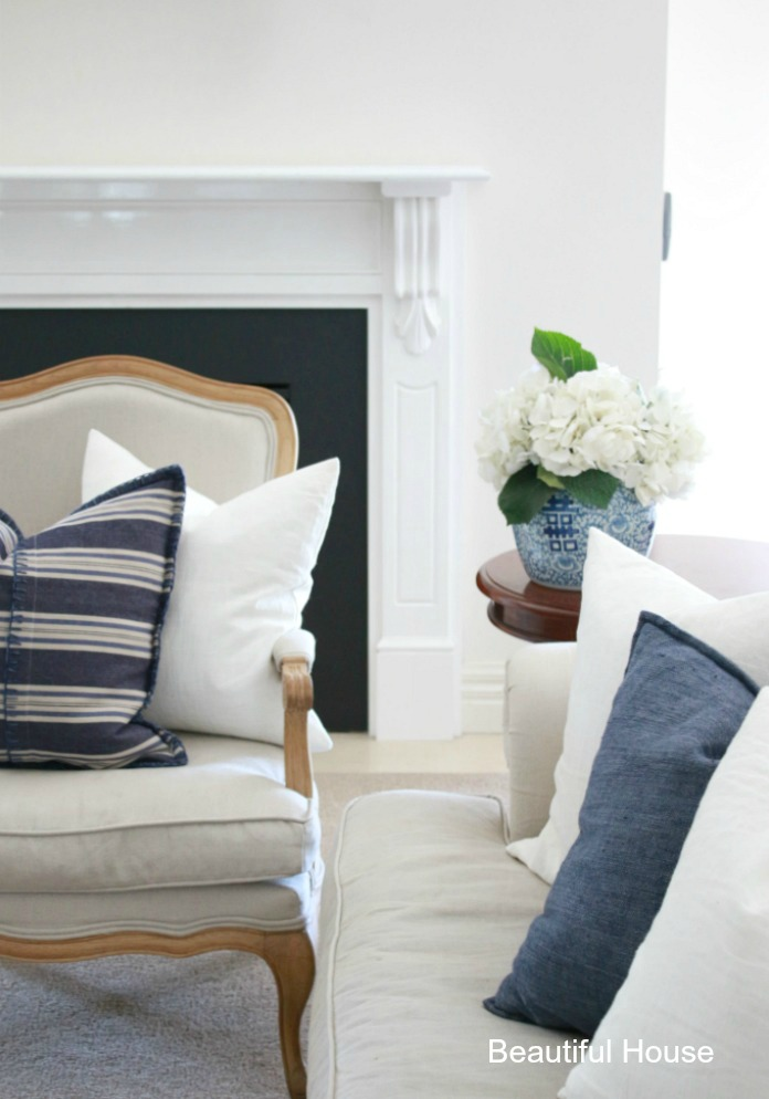 Decorating With Blue & White Stripes - Beautiful House