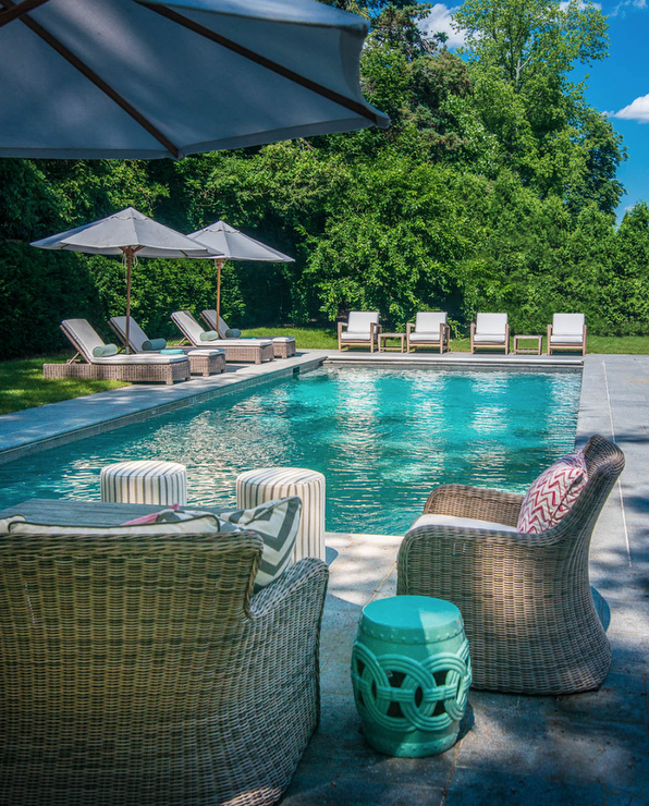 Hamptons Style Poolside Decor Beautiful House