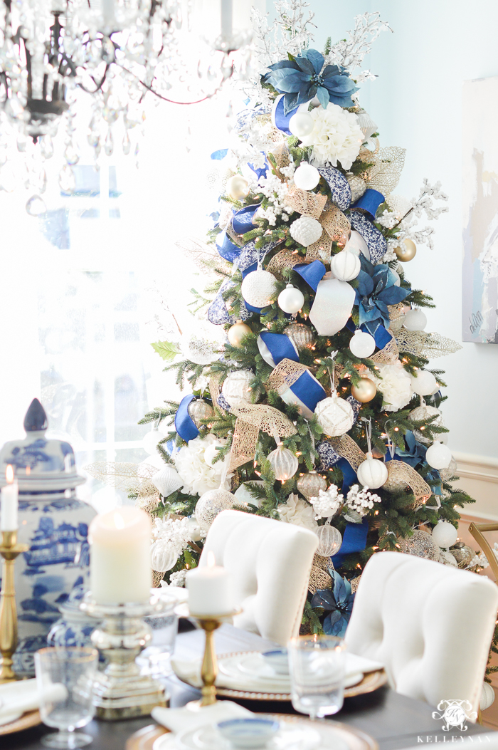 Classic Blue White Christmas Inspiration For Your Home Beautiful House